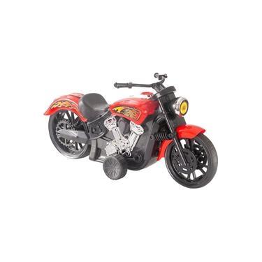 Imagem de Mini Moto Big Chopper De Brinquedo C/ Fricção 43cm Bs Toys