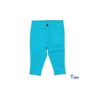 Calça Infantil Casual Azul Turquesa Menino Índigo Trend