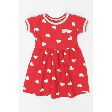 Vestido Infantil Malha Alakazoo Vermelho Avenida