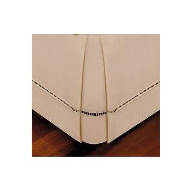 Imagem de Saia para Cama Box Queen Bege 158cm x 198cm x 36cm