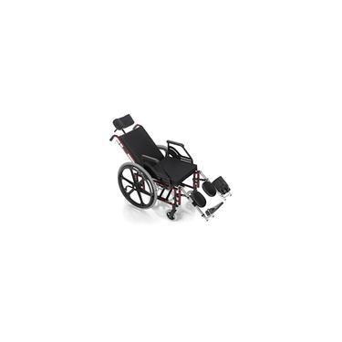Imagem de Cadeira de Rodas Reclinável Confort Tetra 44cm Vinho - Prolife
