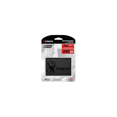 SSD Kingston A400 240GB - 500mb/s para Leitura e 350mb/s para Gravação - Sa400s37