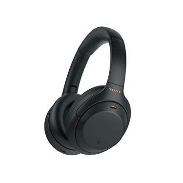 Imagem de Headphone Sony WH-1000XM4 Preto sem fio Bluetooth e com Noise Cancelling (cancelamento de Ruído)   WH-1000XM4BMUC