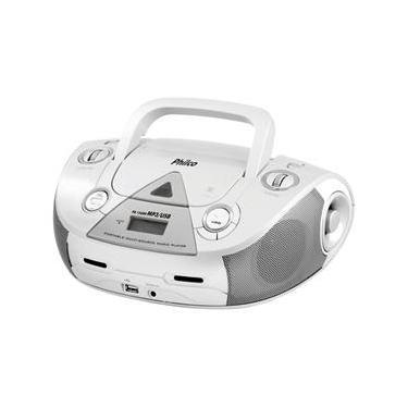 Som Portátil Philco PB126BR com CD Player MP3, Rádio FM, Entrada USB e Auxiliar de Áudio - Branco