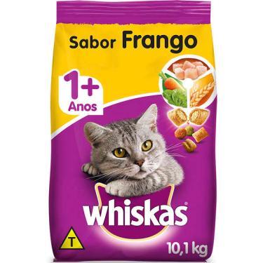 Ração Whiskas Frango para Gatos Adultos - 10,1 Kg