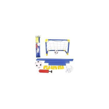 Imagem de Kit Futebol Gol Golzinho Mini Trave Rede Bola E Bomba