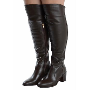 Bota Laura Prado Over the Knee Café  feminino