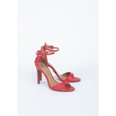 Sandália com Cordas Lança Perfume Sandalia Vermelho  feminino
