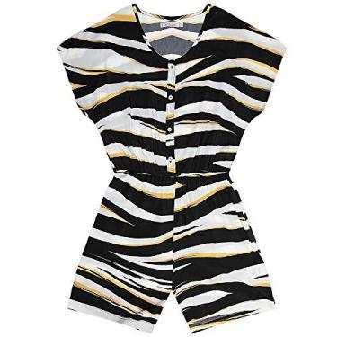 Macaquinho Feminino de Zebra Endless Preto M