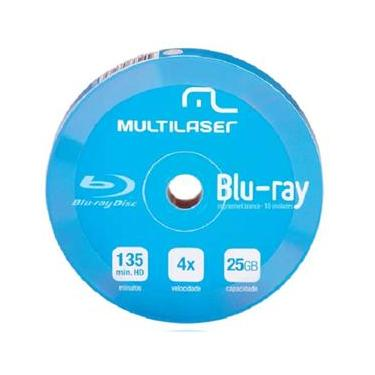 Blu-ray 25GB 4X Shrink 10 PÇS DV057 printable