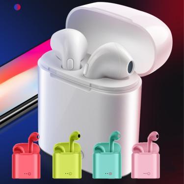 Imagem de Fone de ouvido sem fio tws i7s, com bluetooth, estéreo, esportivo, com caixa de carregamento, para