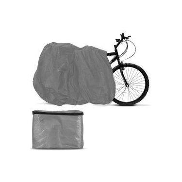 Capa Para Cobrir Bicicleta Cinza Sem Forro Tamanho Universal