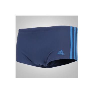 bff1f030a Sunga com Proteção Solar UV adidas 3S Infinitex Lateral Larga - Adulto -  AZUL ESCURO adidas