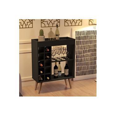 Imagem de Barzinho / Aparador Bar com Adega Sonatta Retrô - RPM Móveis