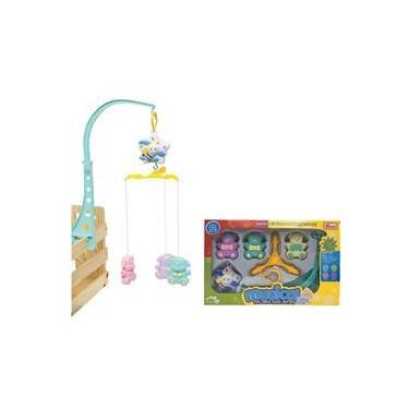 Móbile Musical Giratório Brinquedo Ursinho Para Berço Intuitivo e Sonoro Para Bebe e Criança