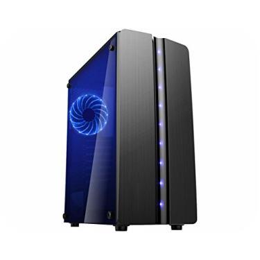 Gabinete K-MEX Gamer CG-06R8 Blue Matrix Sem Fonte