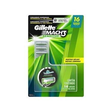 Imagem de Carga para Aparelho de Barbear Gillette Mach3 Sensitive - 16 unidades