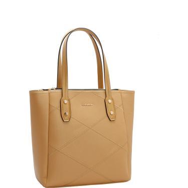 Bolsa Sacola Chenson Recortes Bege Chenson3481499 feminino 815d7c8df7e