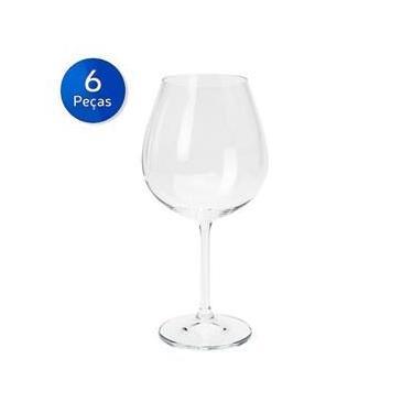 Conjunto 6 Taças para Água de Vidro 320 ml Leaves - Bon Gourmet