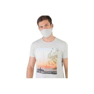 T-Shirt Mescla Flame Estampa Sun Cru