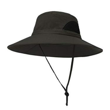 yotijar Chapéu de Verão Unissex, Chapéu de Proteção UV Solar, Chapéu de Aba Larga para Exteriores com - Verde do exército