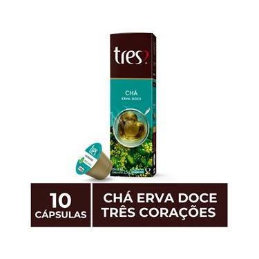 10 Cápsulas Três Corações, Chá Erva Doce