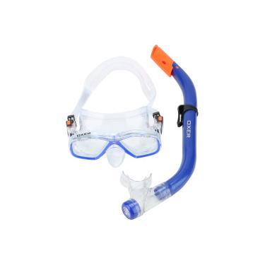 1ff1e44bf6d Kit Mergulho  Snorkel e Máscara de Mergulho Oxer Fun Pack - Infantil - AZUL  Oxer