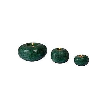 Kit Velas Retro, 3 unidades em 3 tamanhos diferentes, Verde - Christmas Traditions