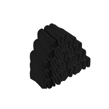 Imagem de Kit 30 Toalhas de Rosto Para Salão Beleza 100% Algodão 40 x 65 cm Preta Emcompre