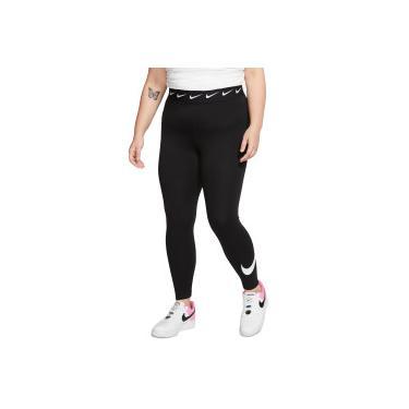 Calça Legging Nike Sportswear Club Hw Swoosh Plus - Feminina Nike Feminino