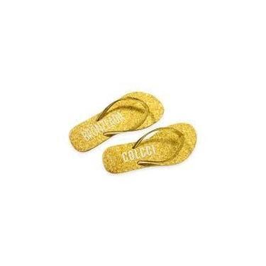 Chinelo fem cor ouro