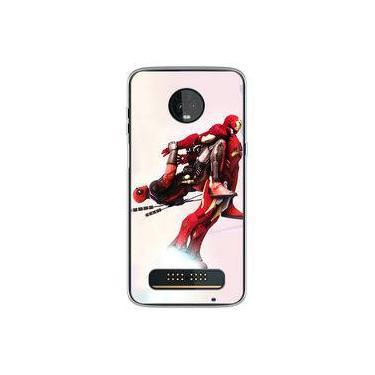Capa para Moto Z3 Play - Deadpool e Homem de Ferro