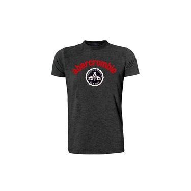 Camiseta Abercrombie & Fitch Masculina Adirondacks Seal Chumbo