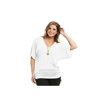 Blusa Plus Size Manga Curta Camiseta Feminina Malha Leve