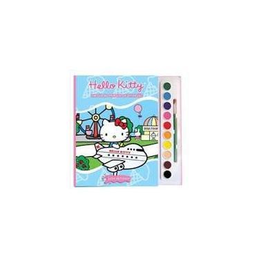 Imagem de Hello Kitty: Um dia no parque de diversões - Livro com aquarela