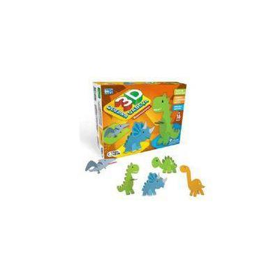 Imagem de Quebra Cabeça 3d 16 Peças Dinossauros Pais E Filhos