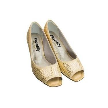 afa6bffda9 Sapato Peep Toe Piccadilly Microfibra 714057
