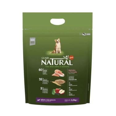 Ração Affinity Guabi Natural Salmão e Cevada para Cães Adultos Raças Média - 2,5 Kg