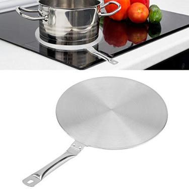 Imagem de Difusor de calor placa de anel de fervura, conversor de difusor de calor de aço inoxidável para fogão a gás/elétrico/indução, suprimento doméstico (24 cm)