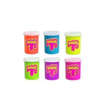 Imagem de Kit Massinha Gelelé Slime c/ 6 Potes 152 g - Sortidos - Doce Brinquedos