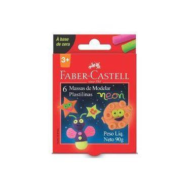 Imagem de Massa Modelar Faber Castell Neon 006 Cores 22.0306neon