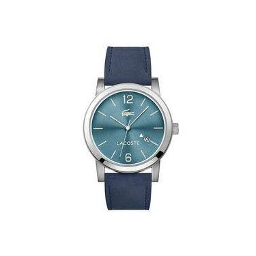 Relógio Masculino Lacoste Modelo 2010925 42mm - A Prova D Água   Pulseira  em Couro 468bc8be93