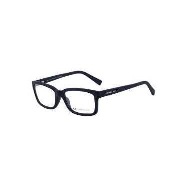 b2cf466b5a61e Armani Exchange Ax 3022 L - Óculos De Grau 8157 Azul Fosco - Lente 5