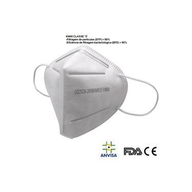 Máscara N95 Pff2 C/ Anvisa 5 Camadas FDA CE