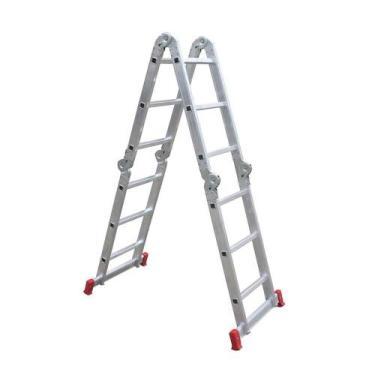 Escada de Alumínio Botafogo Articulada 13 em 1 3X4 12 Degraus