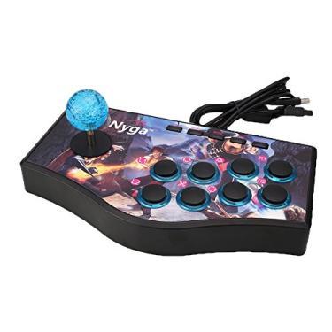 Teclado de Joystick de Rua Arcade com Fio Cewaal Combate o Controle de Jogo USB para PS2 PS3 PC