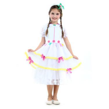 Imagem de Fantasia Noiva Caipira com laços Infantil - Festa Junina P