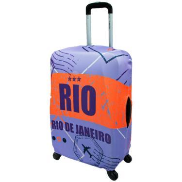 Capa Protetora Mala Viagem Tamanhos M/P/PP Elastano Rio ys27076