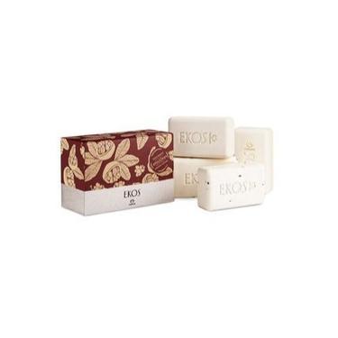 Kit Sabonete em barra Puro Vegetal Cremoso e esfoliante Ekos Castanha /caixa com 4 unidades
