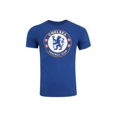 4505556533 Camiseta Chelsea Evergreen Crest Nike - Masculina - AZUL Nike